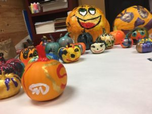October pumpkin painting